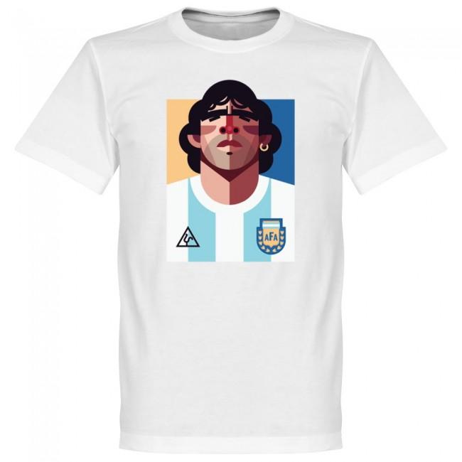 アルゼンチン代表 マラドーナ Tシャツ SOCCER プレイメーカー ホワイト【1910価格変更】