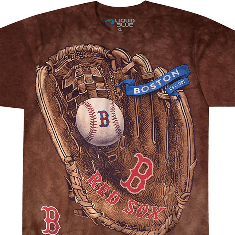 MLB ボストン・レッドソックス Tシャツ グローブ タイダイ染め【lb1910変更】【1112】
