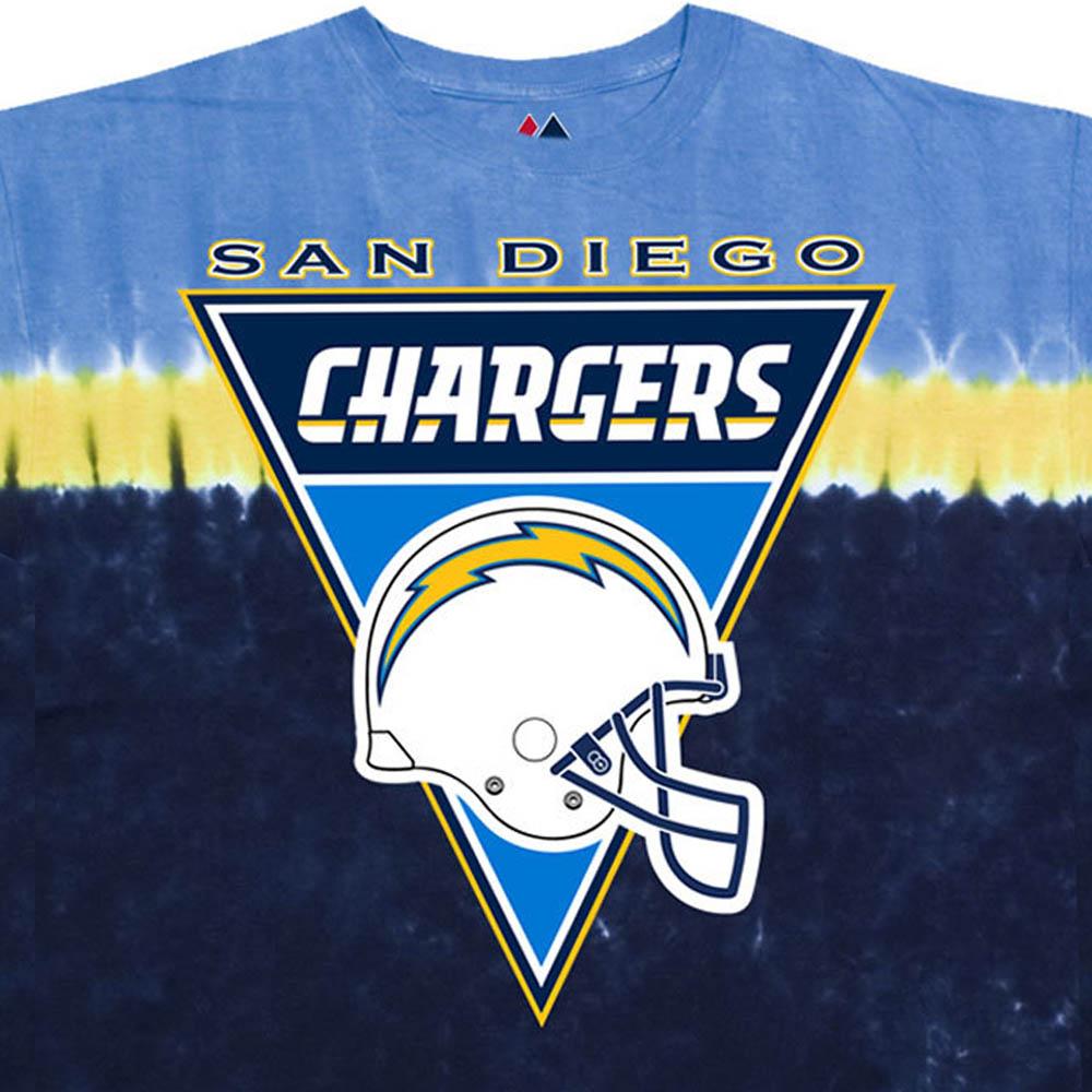 NFL ロサンゼルス・チャージャース Tシャツ ロゴバナー タイダイ染め【lb1910変更】