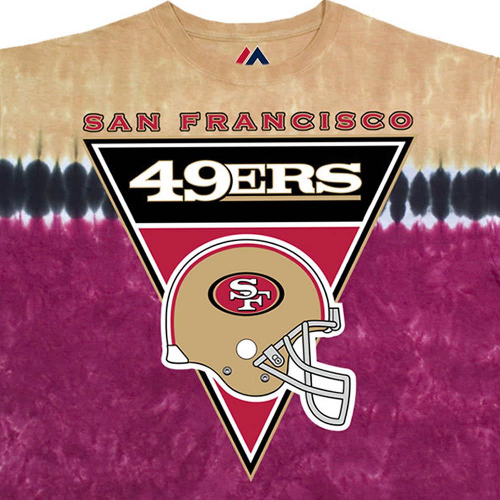 NFL サンフランシスコ・49ers Tシャツ ロゴバナー タイダイ染め【lb1910変更】