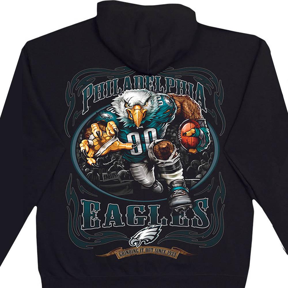NFL フィラデルフィア・イーグルス パーカー/フーディー ランニングバック プルオーバー ブラック