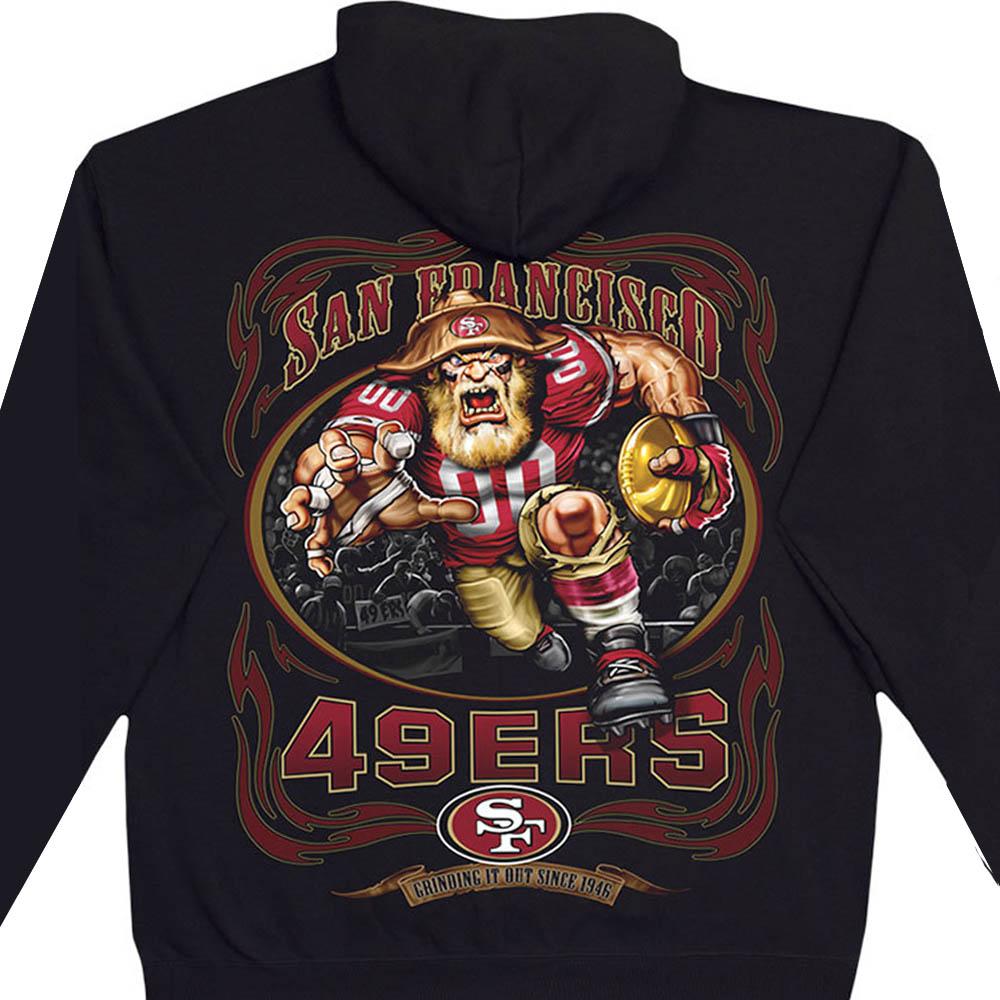 スーパーボウル進出 NFL パーカー サンフランシスコ・49ers フーディー ランニングバック プルオーバー ブラック