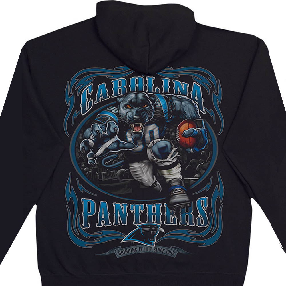 NFL カロライナ・パンサーズ パーカー/フーディー ランニングバック プルオーバー ブラック