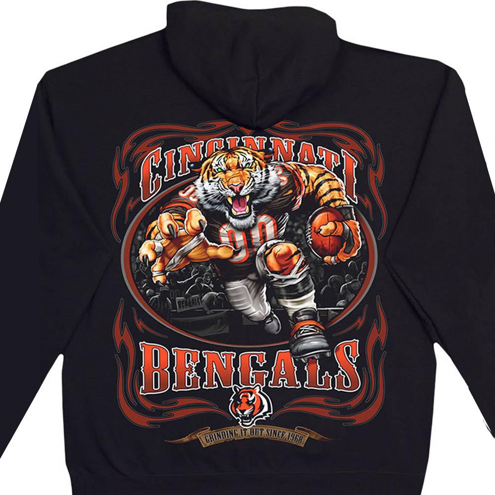 NFL シンシナティ・ベンガルズ パーカー/フーディー ランニングバック プルオーバー ブラック