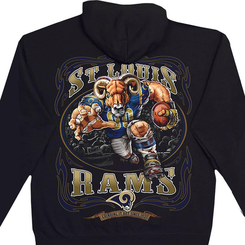 NFL ロサンゼルス・ラムズ パーカー/フーディー ランニングバック プルオーバー ブラック