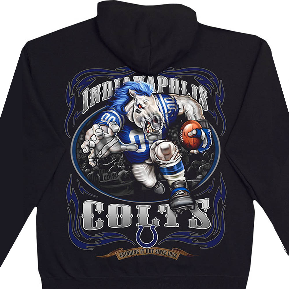 NFL インディアナポリス・コルツ パーカー/フーディー ランニングバック プルオーバー ブラック