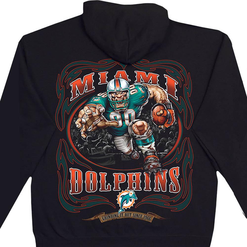 NFL マイアミ・ドルフィンズ パーカー/フーディー ランニングバック プルオーバー ブラック