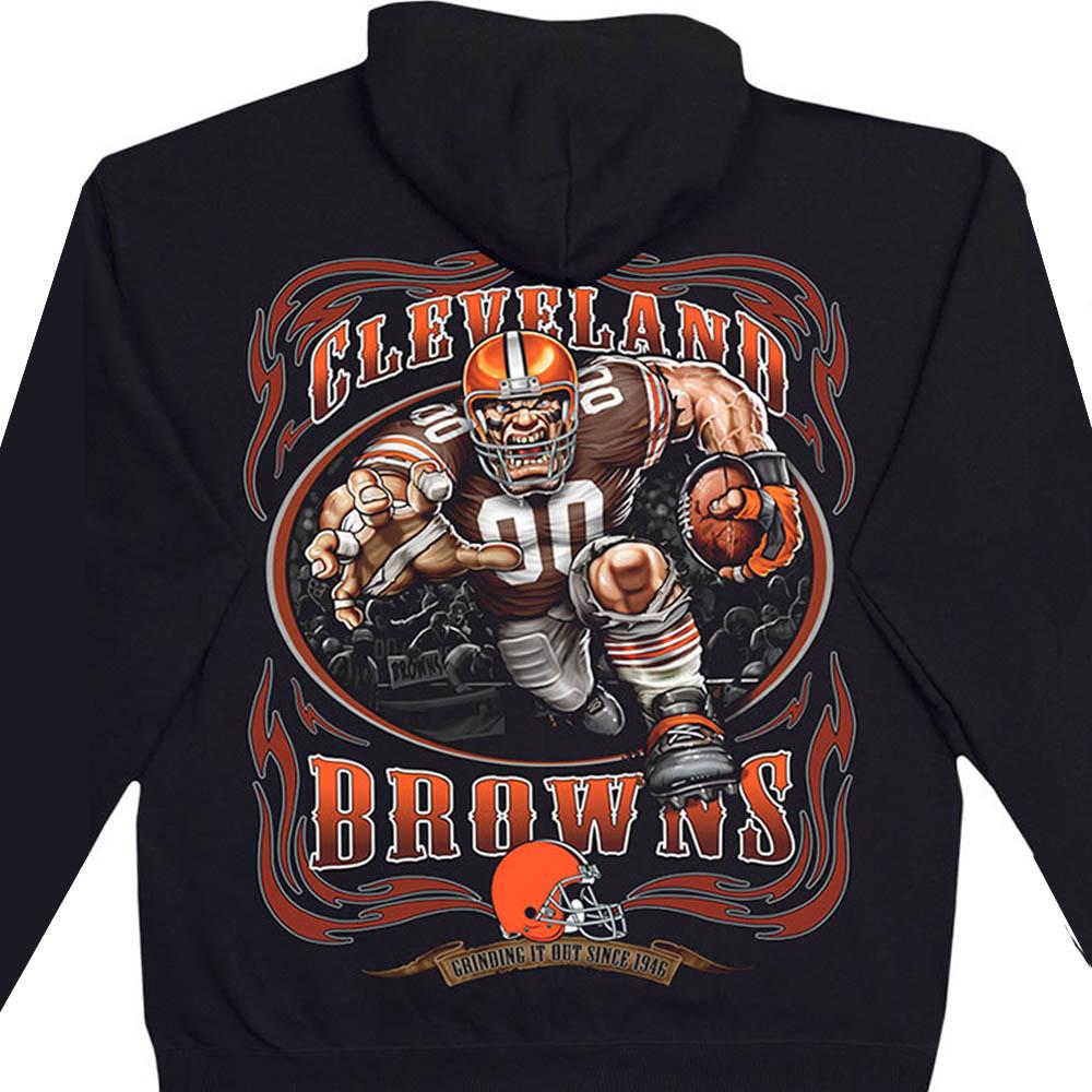 NFL クリーブランド・ブラウンズ パーカー/フーディー ランニングバック プルオーバー ブラック