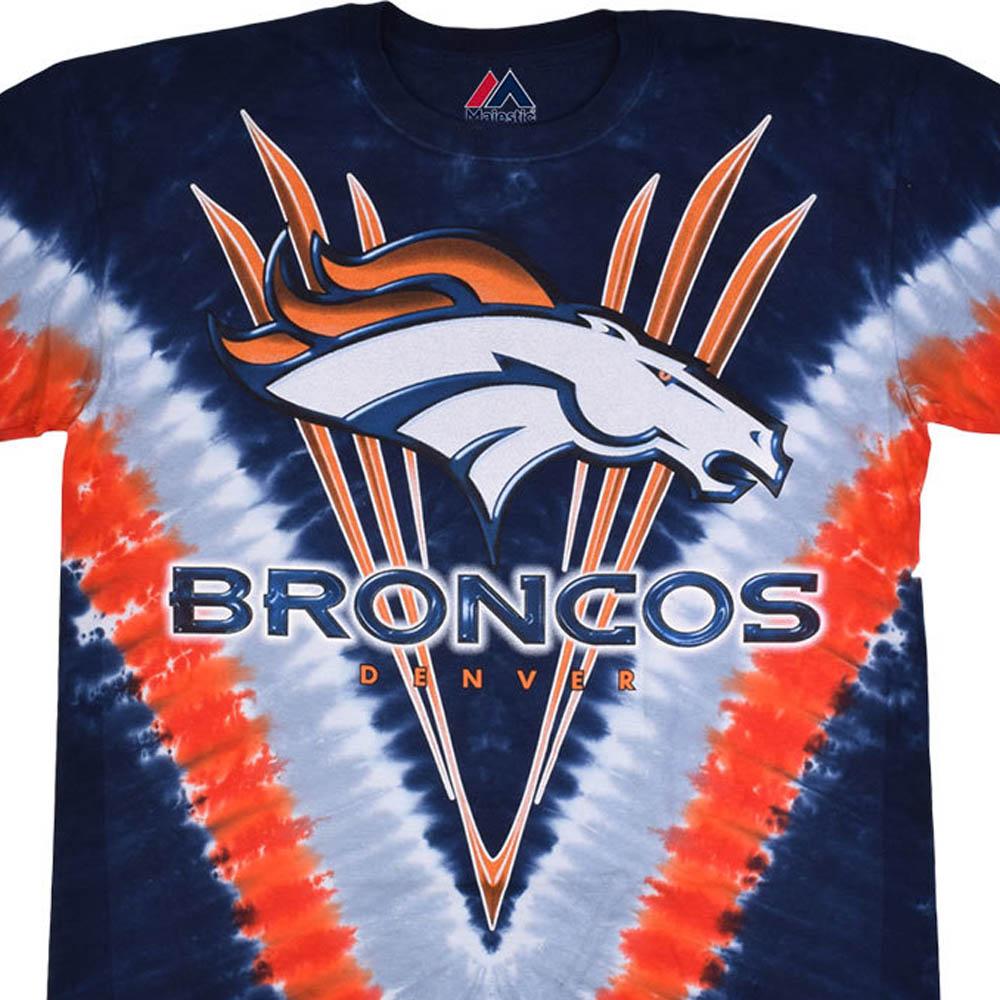 NFL デンバー・ブロンコス Tシャツ V タイダイ染め【lb1910変更】