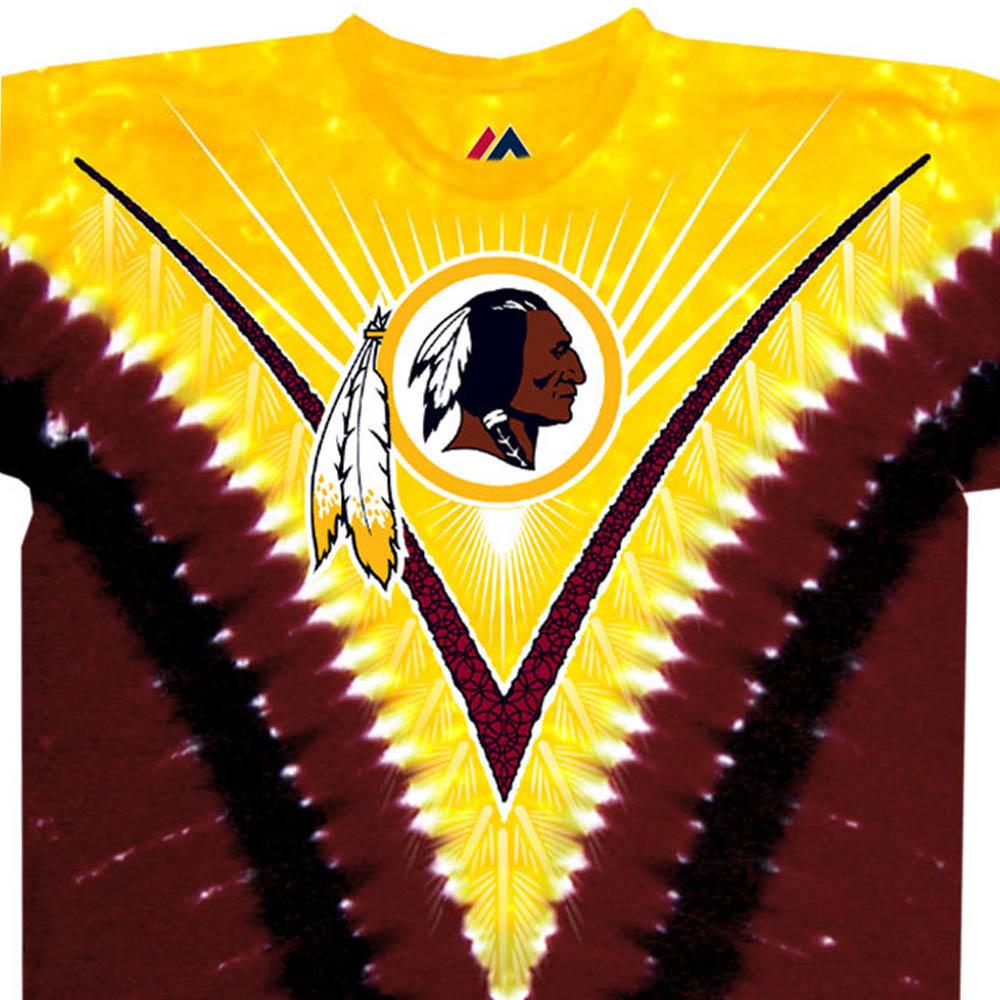 NFL ワシントン・レッドスキンズ Tシャツ V タイダイ染め