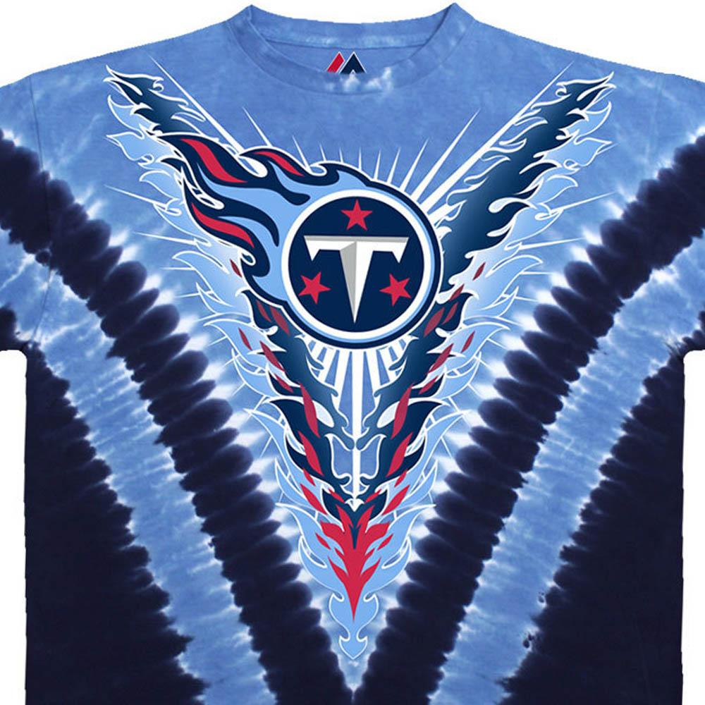 NFL テネシー・タイタンズ Tシャツ V タイダイ染め