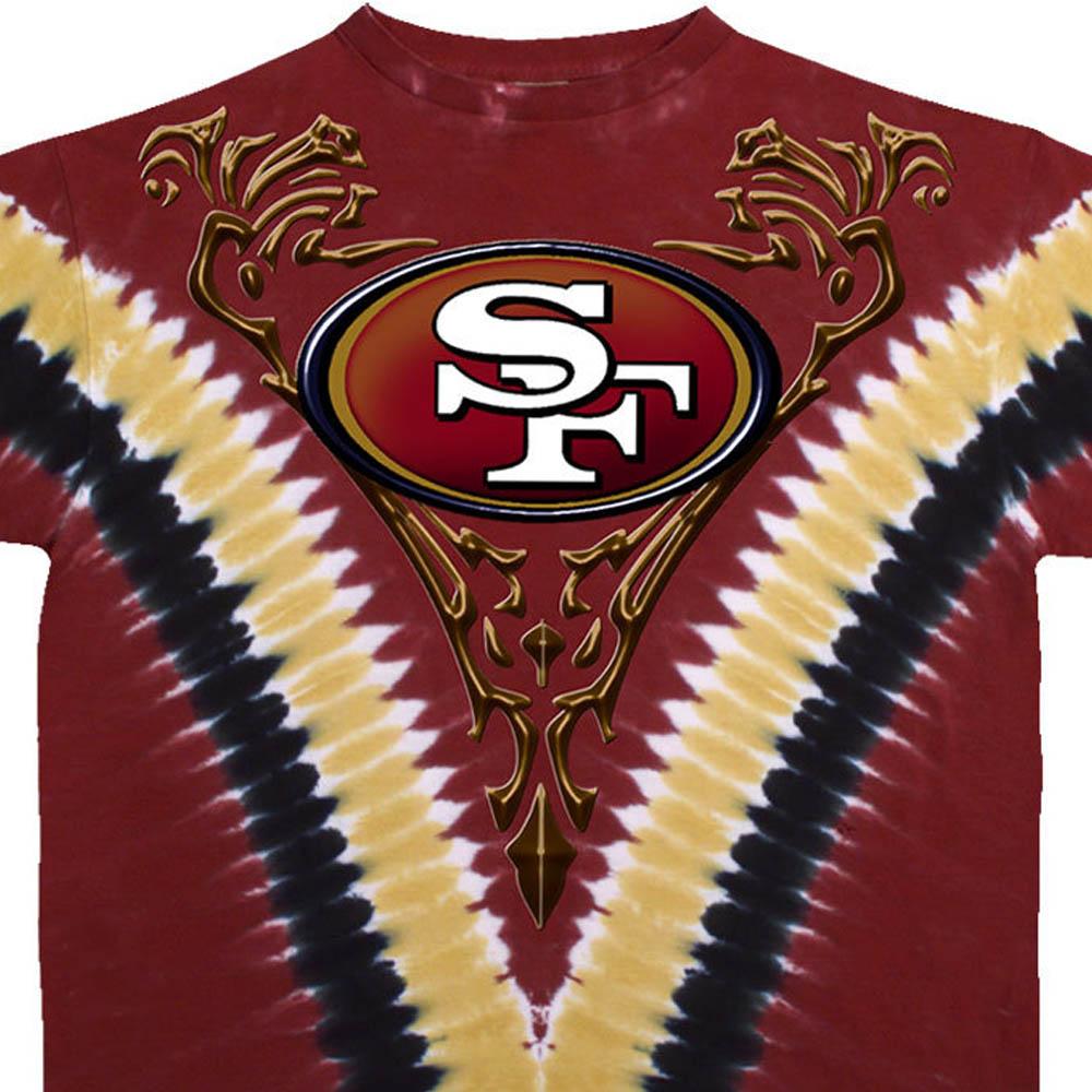 スーパーボウル進出 NFL サンフランシスコ・49ers Tシャツ V タイダイ染め【lb1910変更】