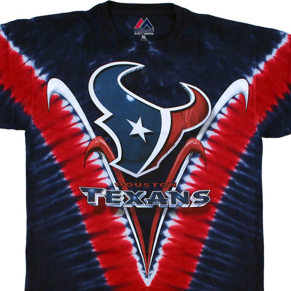 NFL ヒューストン・テキサンズ Tシャツ V タイダイ染め