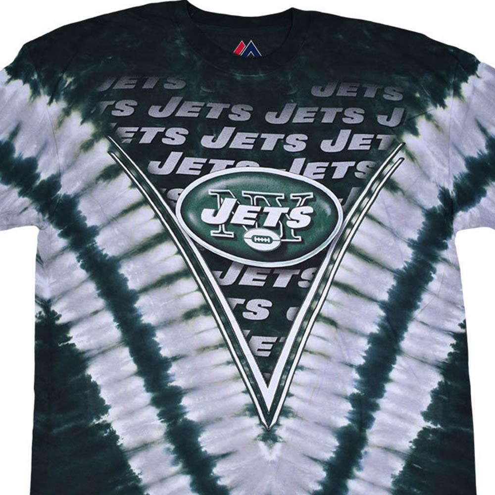 NFL ニューヨーク・ジェッツ Tシャツ V タイダイ染め
