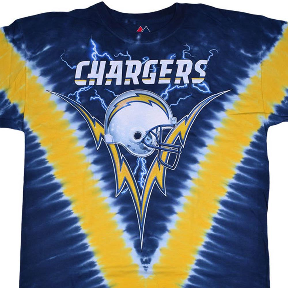 NFL ロサンゼルス・チャージャース Tシャツ V タイダイ染め【lb1910変更】