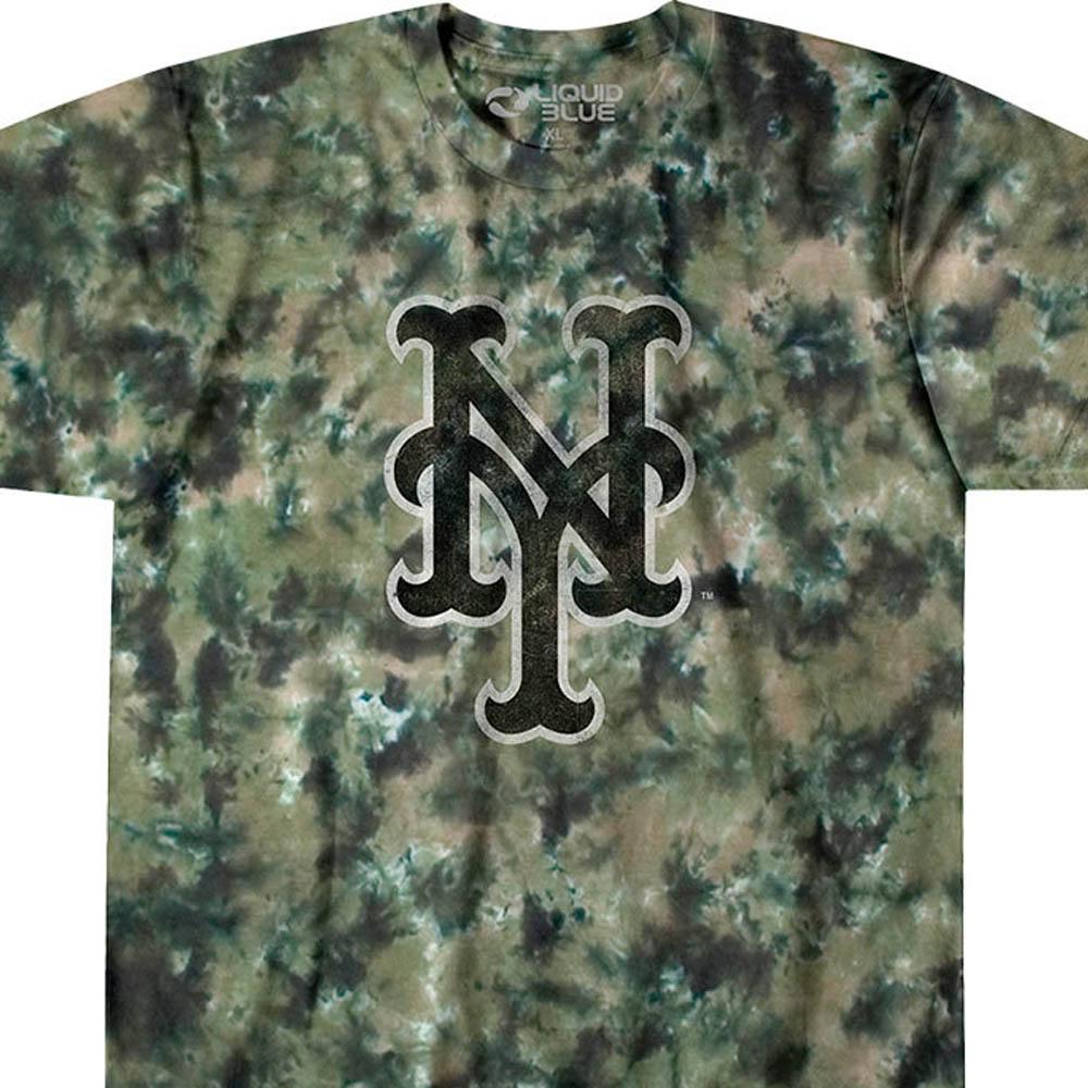 MLB ニューヨーク・メッツ Tシャツ タイダイ染め カモ