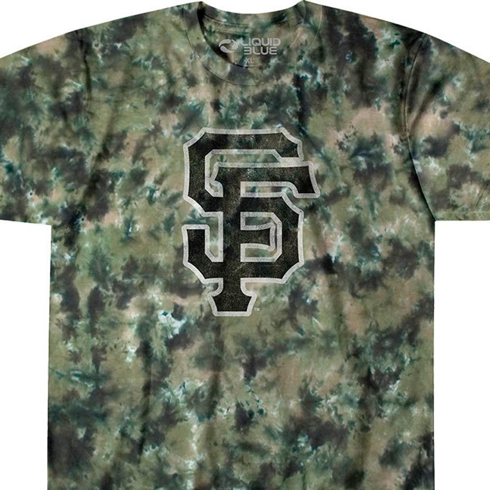 MLB サンフランシスコ・ジャイアンツ Tシャツ タイダイ染め カモ【lb1910変更】【1112】