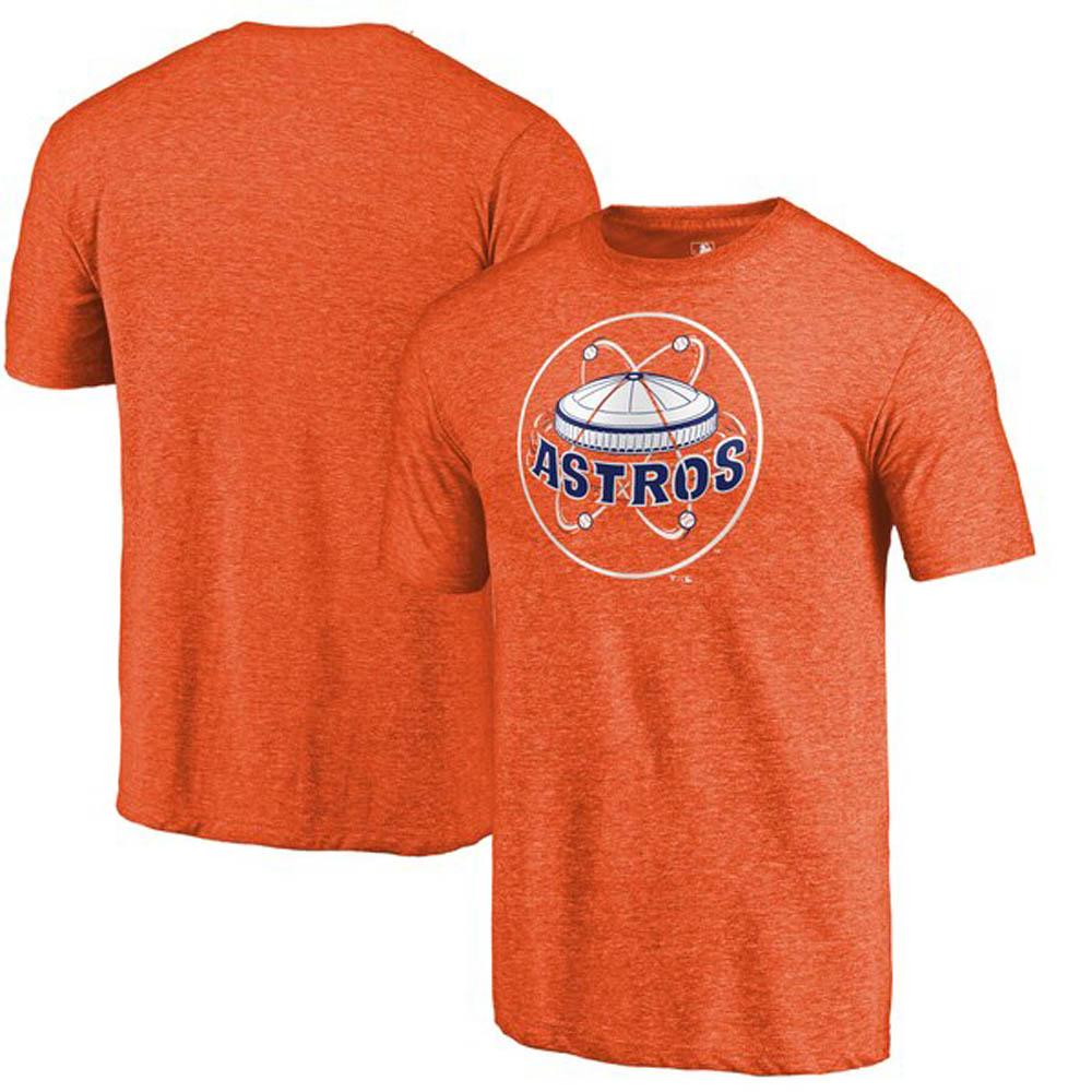 ワールドシリーズ進出 MLB ヒューストン・アストロズ Tシャツ クーパーズタウン コレクション ヘザー オレンジ【1910価格変更】【1112】
