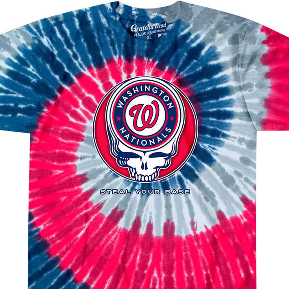 ワールドシリーズ進出 MLB ワシントン・ナショナルズ Tシャツ ユア ベース タイダイ染め ティール【lb1910変更】【1112】