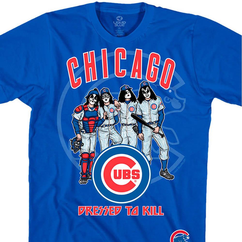 MLB シカゴ・カブス Tシャツ KISS コラボ ドレス トゥ キル ブルー【lb1910変更】【1112】
