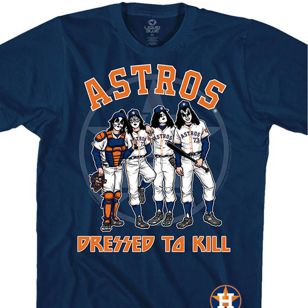ワールドシリーズ進出 MLB ヒューストン・アストロズ Tシャツ KISS コラボ ドレス トゥ キル ネイビー【lb1910変更】【1112】