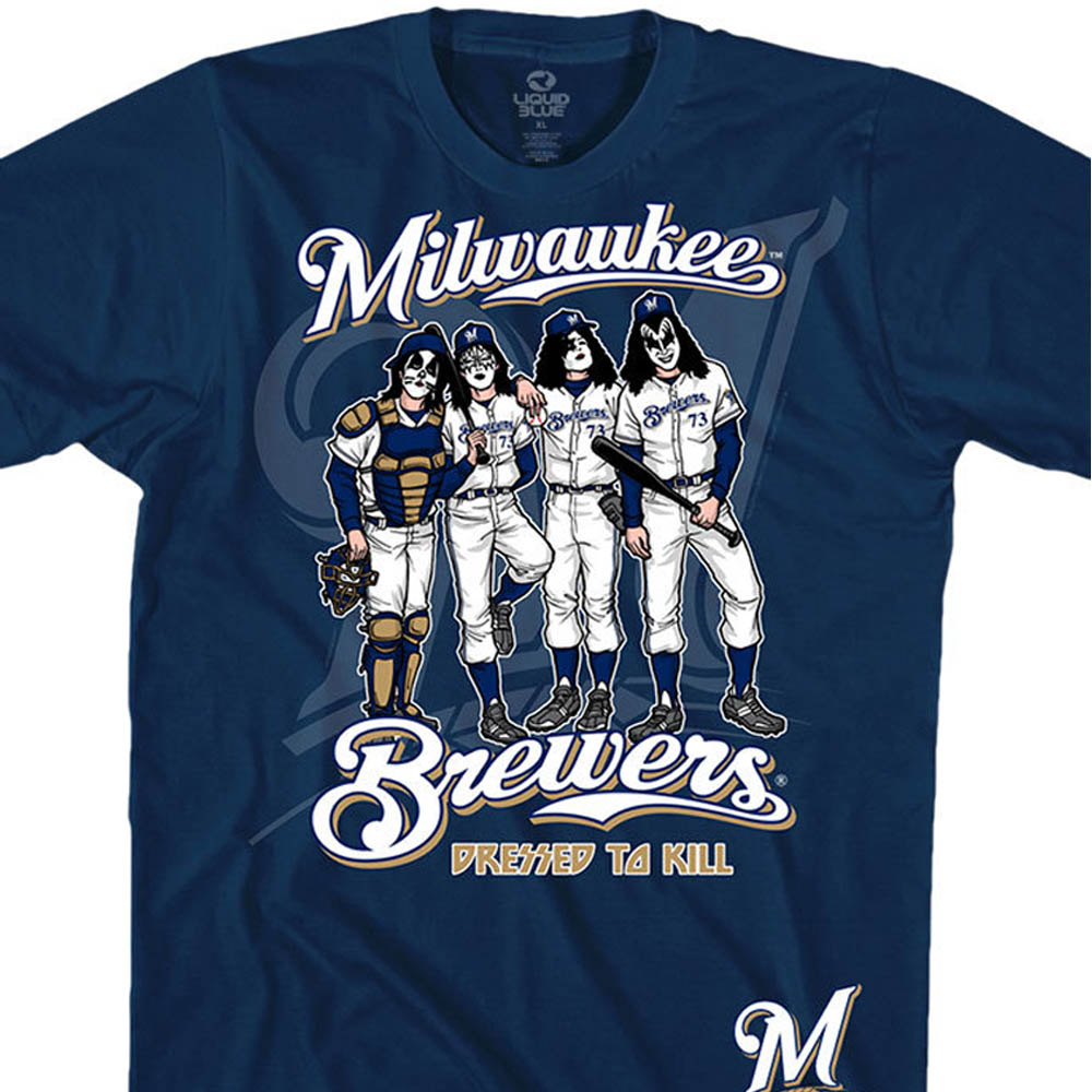 MLB ミルウォーキー・ブリュワーズ Tシャツ KISS コラボ ドレス トゥ キル ネイビー【lb1910変更】【1112】
