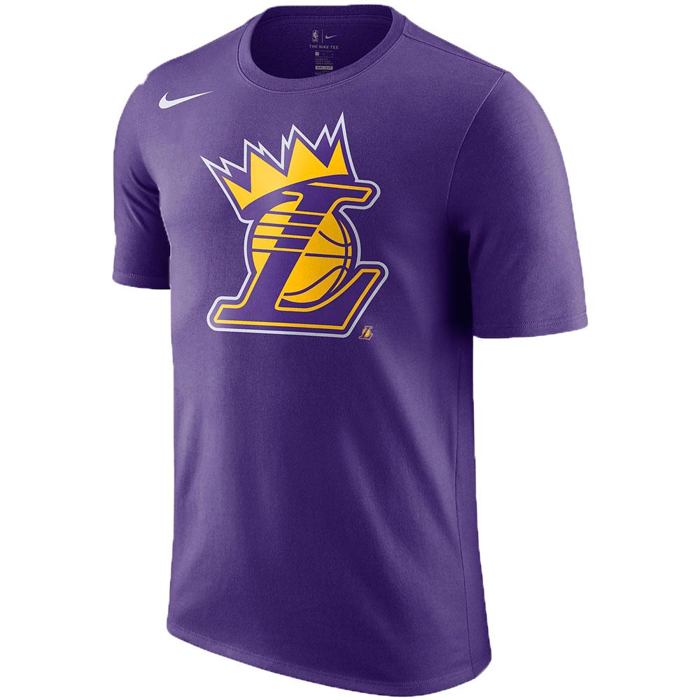 NBA Tシャツ レブロン・ジェイムス ロサンゼルス・レイカーズ レブロン クラウン ナイキ/Nike パープル 37874X-LK1【1911NBAt】