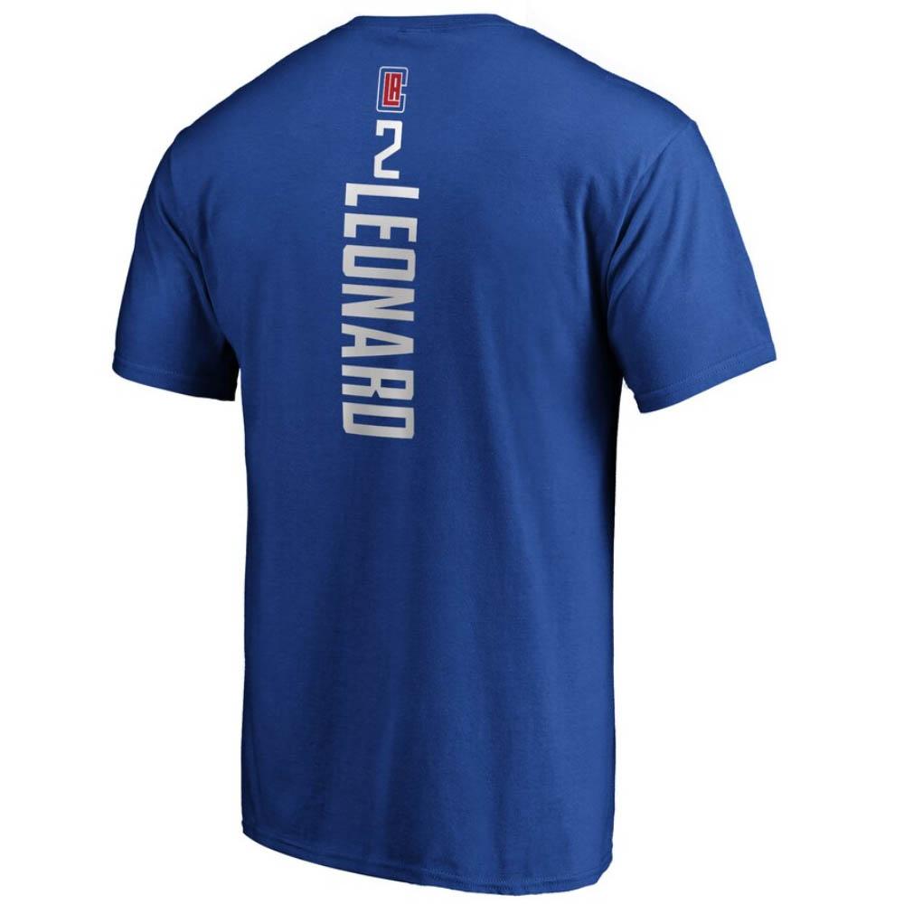 あす楽対応 新色追加 高価値 ファン定番グッズ プレイヤーネーム ナンバーTシャツ カワイ レナード Tシャツ プレーメーカーネームナンバー クリッパーズ ロサンゼルス NBA 1911NBAt ロイヤル