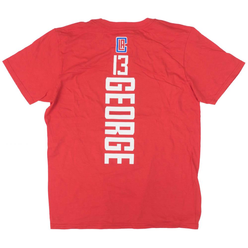 ポール・ジョージ Tシャツ ロサンゼルス・クリッパーズ NBA プレーメーカーネーム&ナンバー レッド【1910価格変更】【1911NBAt】