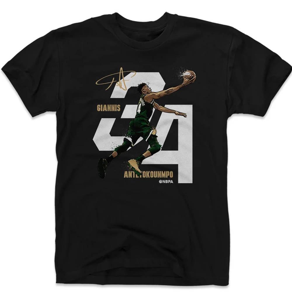 ヤニス・アデトクンボ Tシャツ NBA ミルウォーキー・バックス 500Level ブラック【1910価格変更】【1911NBAt】