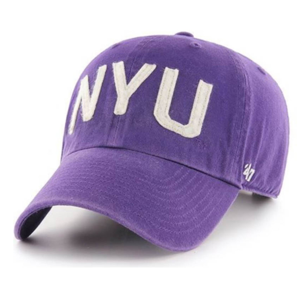 NCAA ニューヨーク大学 キャップ/帽子 アジャスタブルキャップ 47 Brand パープル【1910価格変更】【191028変更】