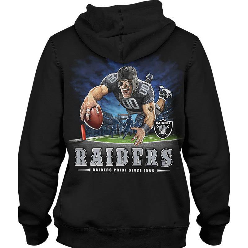 NFL パーカー レイダース フーディー エンドゾーン ブラック