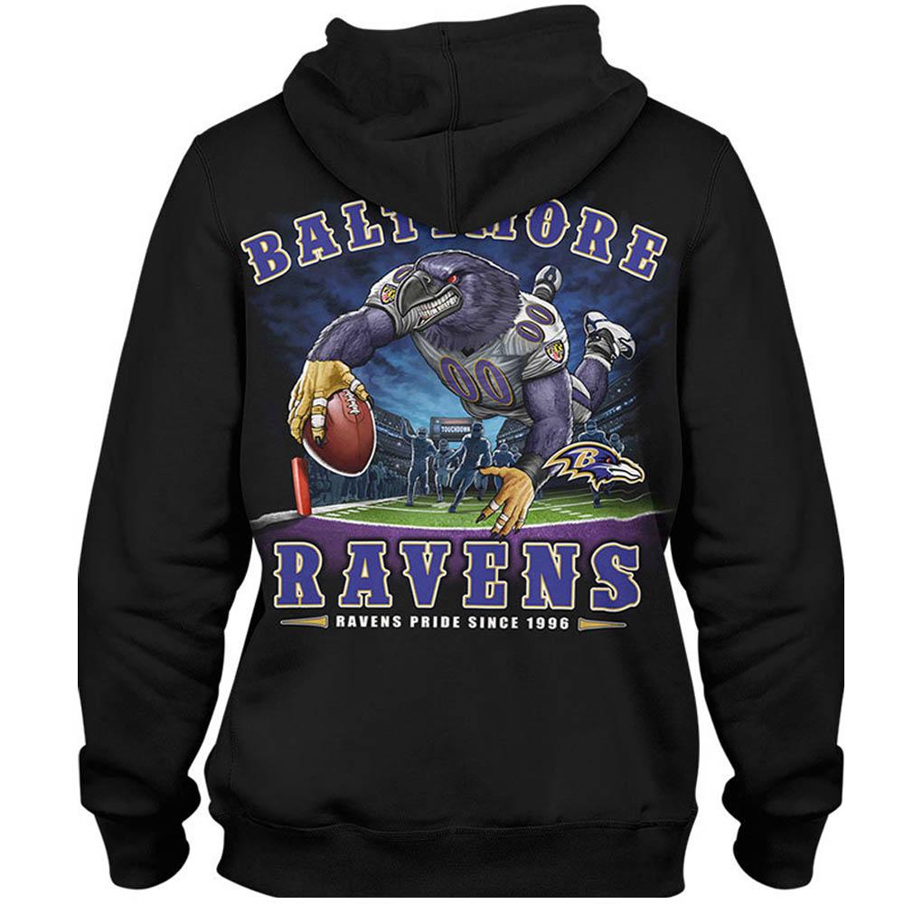 NFL レイブンズ パーカー/フーディー エンドゾーン ブラック