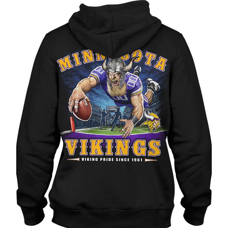 NFL パーカー バイキングス フーディー エンドゾーン ブラック