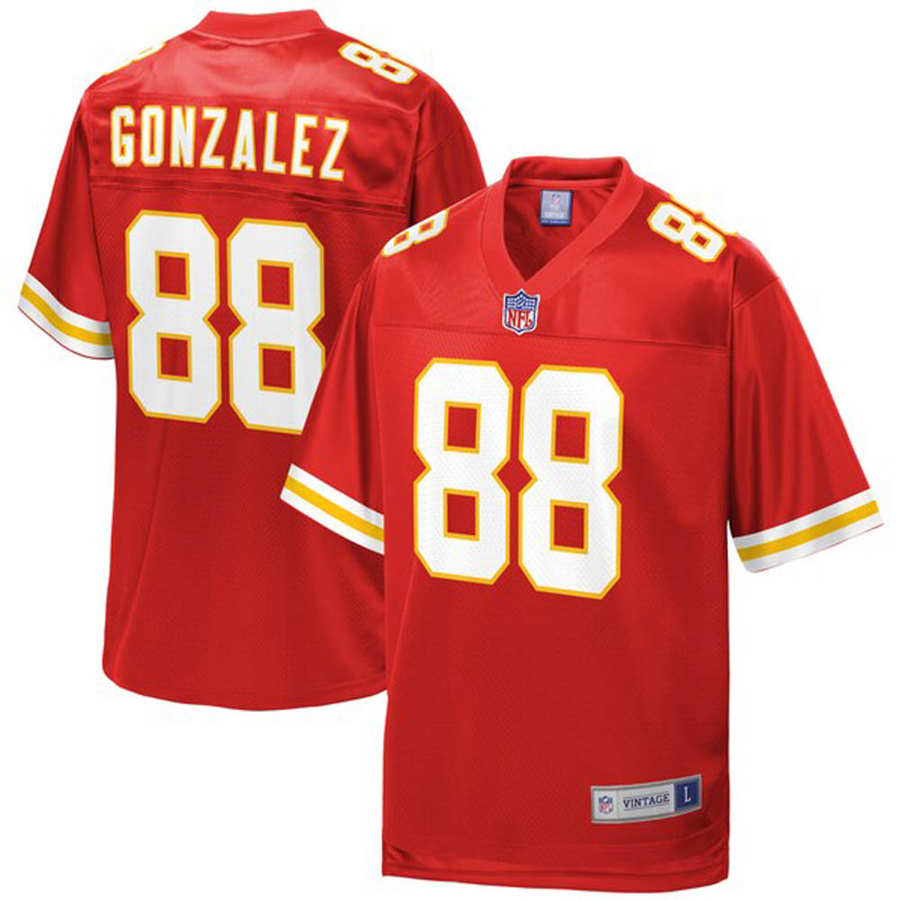 NFL トニー・ゴンザレス チーフス ユニフォーム/ジャージ 引退選手 レプリカ レッド