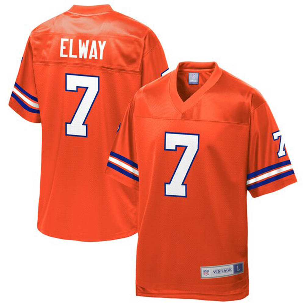 NFL ジョン・エルウェイ ブロンコス ユニフォーム/ジャージ 引退選手 レプリカ オレンジ