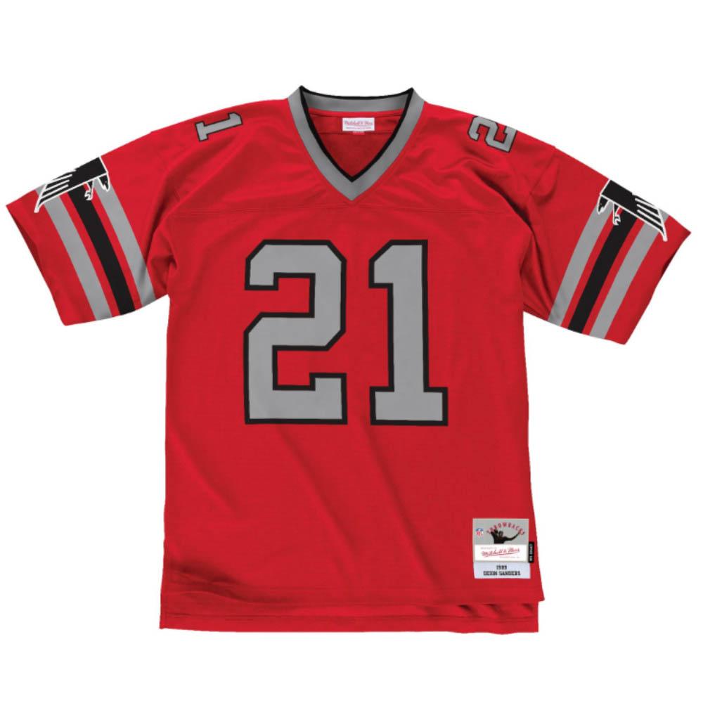 NFL ディオン・サンダース ファルコンズ ユニフォーム/ジャージ レガシー ミッチェル&ネス/Mitchell & Ness 1989 ホーム