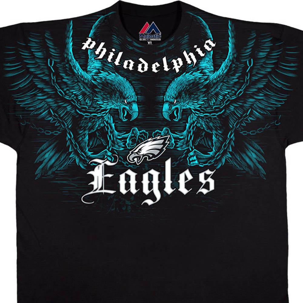 NFL イーグルス Tシャツ フェイス オフ ブラック【lb1910変更】