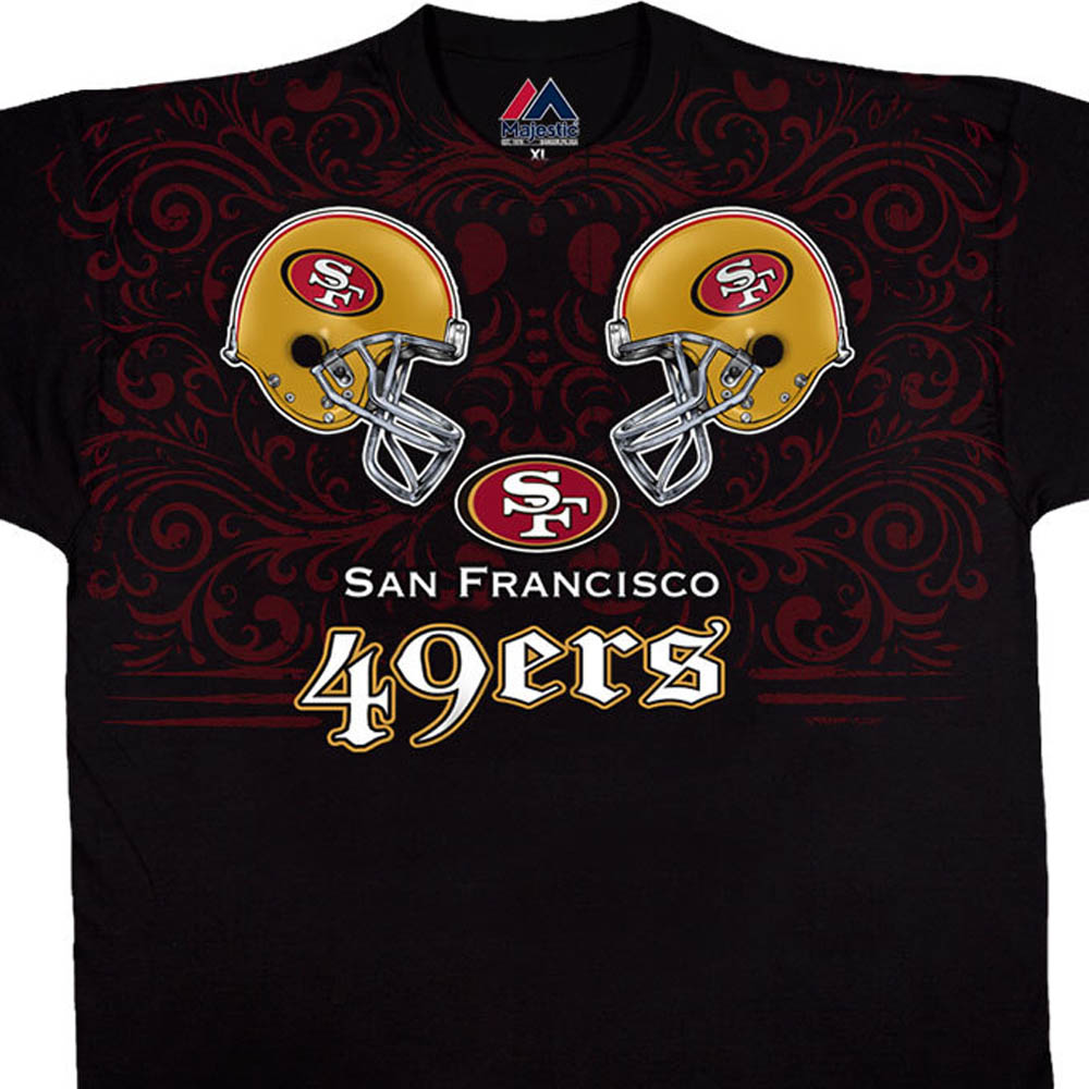スーパーボウル進出 NFL 49ers Tシャツ フェイス オフ ブラック【lb1910変更】