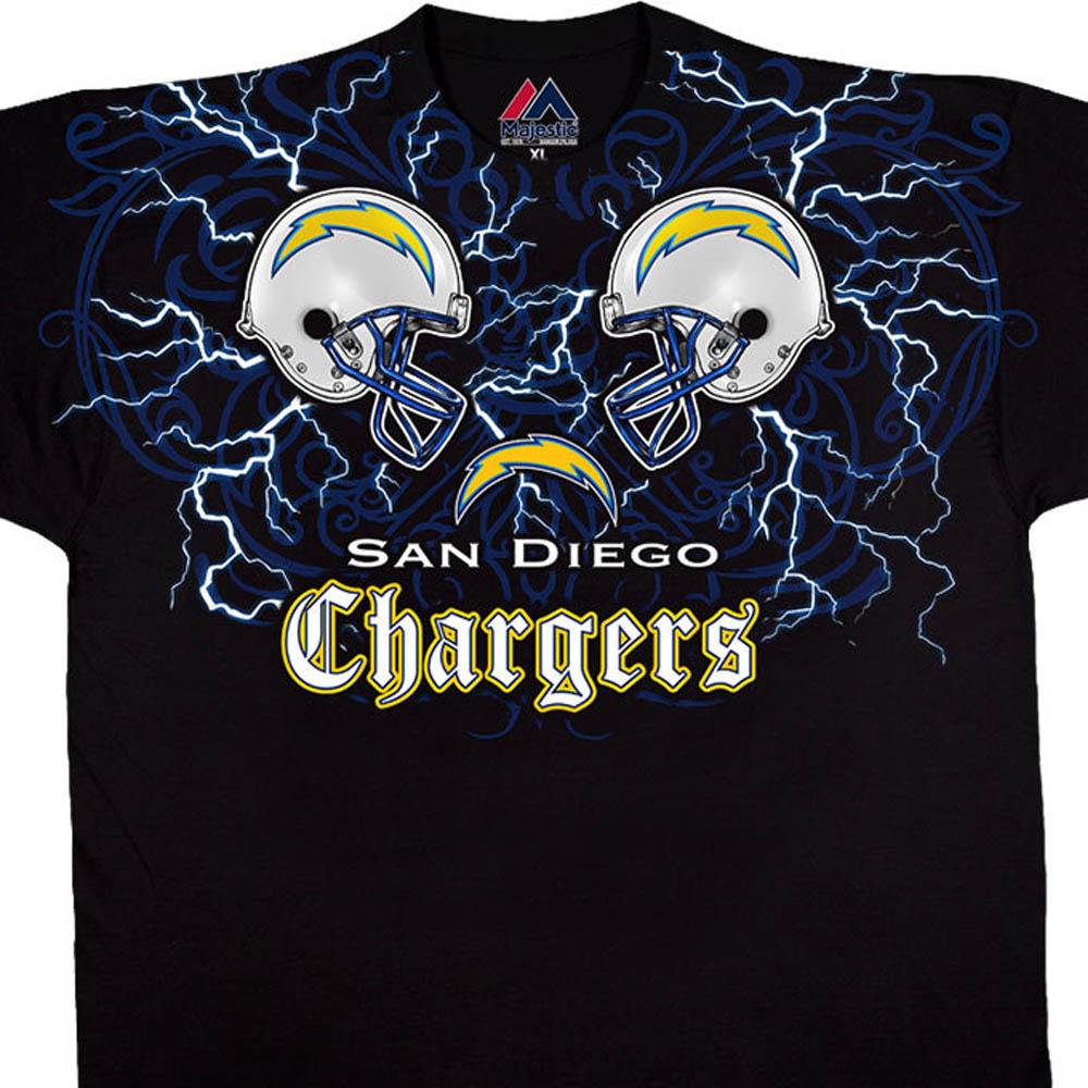 NFL チャージャース Tシャツ フェイス オフ ブラック【lb1910変更】