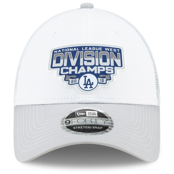 ドジャース キャップ ニューエラ NEW ERAMLB 2019 ナショナルリーグ西地区優勝 9FORTY ホワイト グレー MLBポストシーズン2019c5AqSj4L3R