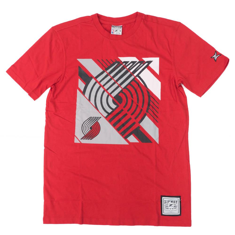 NBA Tシャツ ポートランド・トレイルブレイザーズ スポーツ ファッション Tee Zipway レッド【1910価格変更】【1911NBAt】