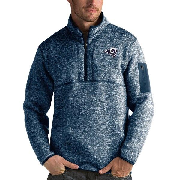 NFL ラムズ パーカー/フーディー フォーチュン クオーター ジップ プルオーバー ジャケット Antigua ネイビー