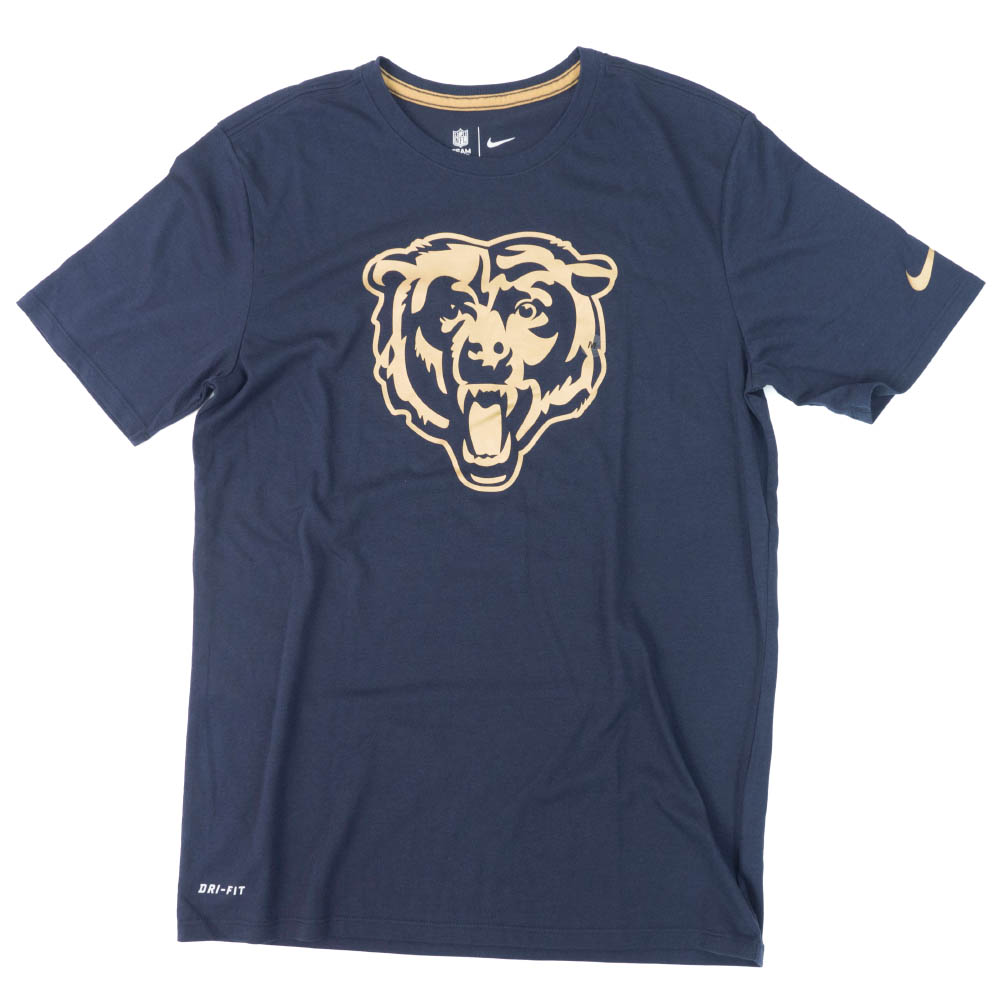 NFL ベアーズ Tシャツ チームロゴ ゴールド ナイキ/Nike ネイビー【1910価格変更】