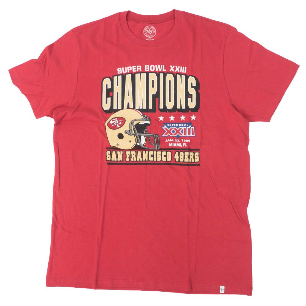 NFL 49ers Tシャツ スーパーボウル 23 チャンピオン 優勝 47Brand ワイン【1910価格変更】