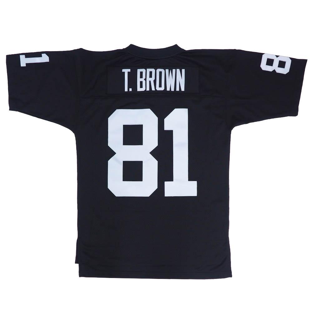 NFL ティム・ブラウン レイダース ユニフォーム/ジャージ スローバック レプリカ ミッチェル&ネス/Mitchell & Ness ブラック
