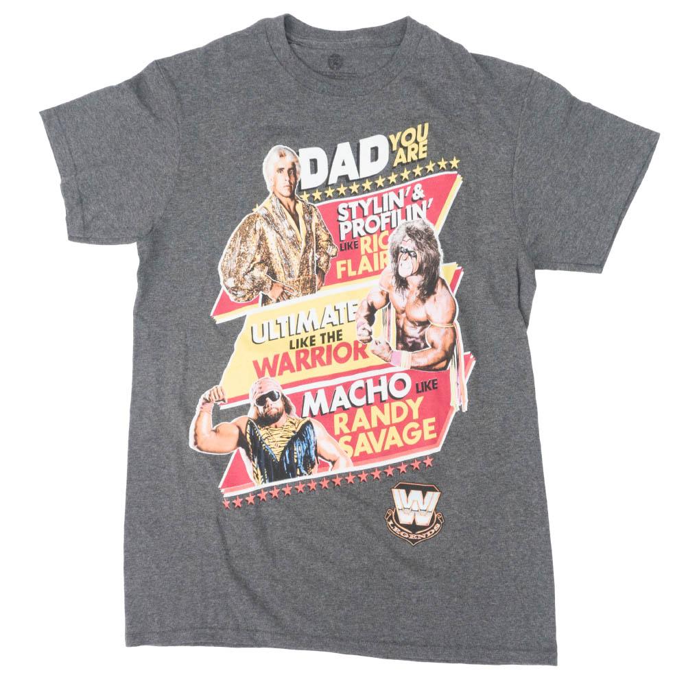 WWE Tシャツ レジェンズ ファザーズ デイ 80s Tees ヘザー