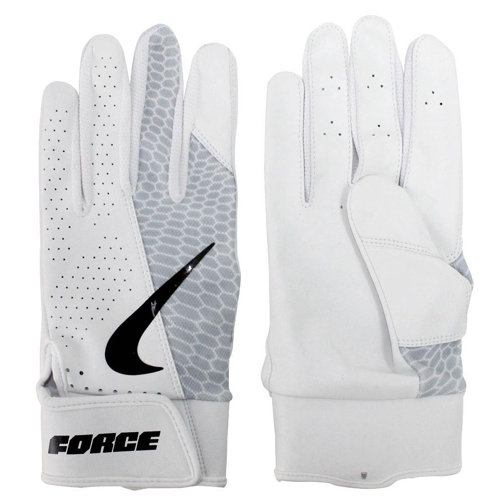Nike BB フォース エッジ バッティング グローブ 手袋 ナイキ/Nike ホワイト ホワイト ブラック N.BG.21.932.SL【1910価格変更】