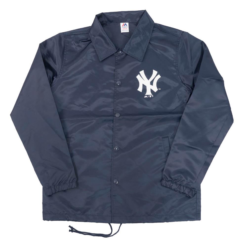 ヤンキース スタジャン/ジャケット NY コーチ マジェスティック/Majestic ネイビー