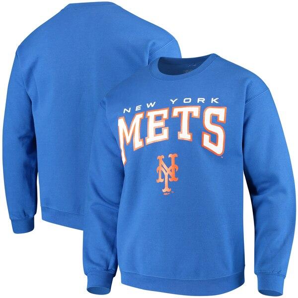 MLB スウェット ニューヨーク・メッツ トレーナー プルオーバー クルー Stitches ロイヤル【MLB1911p】